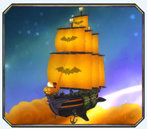 Glowing Ghost - Haunted Galleon