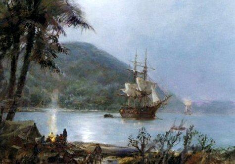 The Pirates Cove by Montague Dawson
