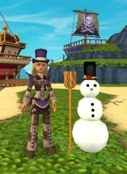 Scarlet Hawkins & her new snowman