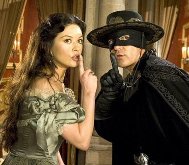 Catherine Zeta Jones and Antonio Banderas  in the Legend of Zorro